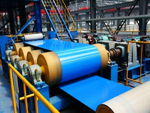 steel coil color coating machine production line
