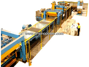 SP3 steel cut to length machine line